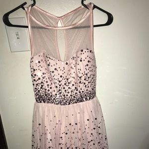 pink sparkly prom dress